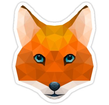 Geometric Red Fox Sticker