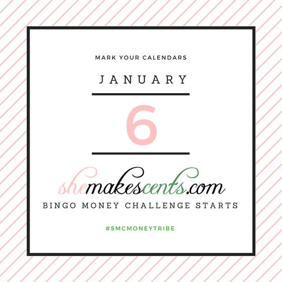 Mark Your Calendars The 2017 Bingo Money Challenge Is Here Money Challenge Money Management Money