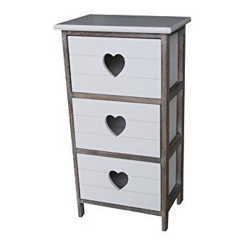 Shabby Chic Modern Wooden White Bedside Table Chest Drawer Cabinet with Rope Handle Storage Units Cupboard Bedroom Bathroom Kitchen Furniture 2 Draws