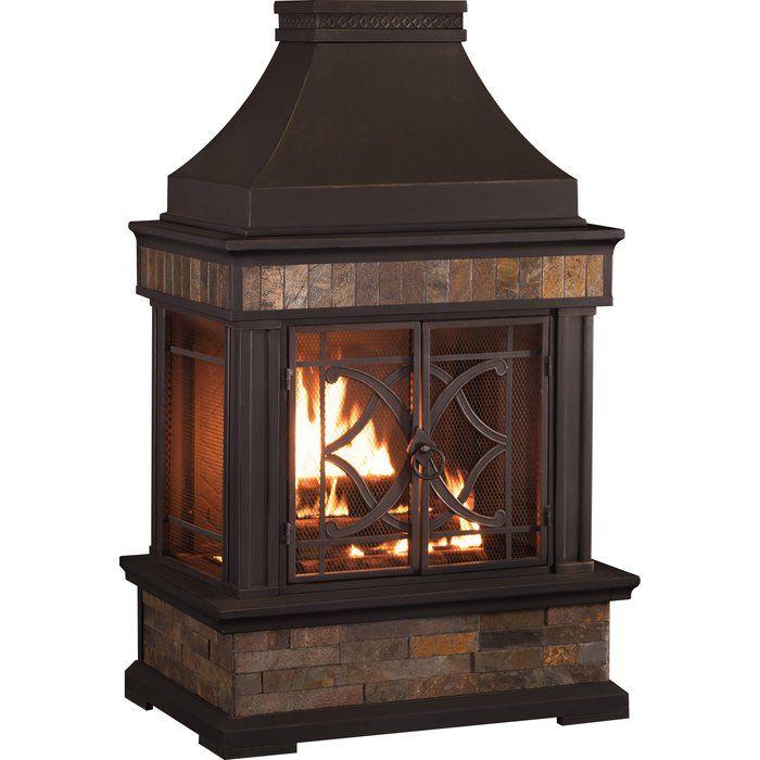 Heirloom Steel Wood Burning Outdoor Fireplace Outdoor Fireplace Patio Fireplace Outdoor Patio Decor