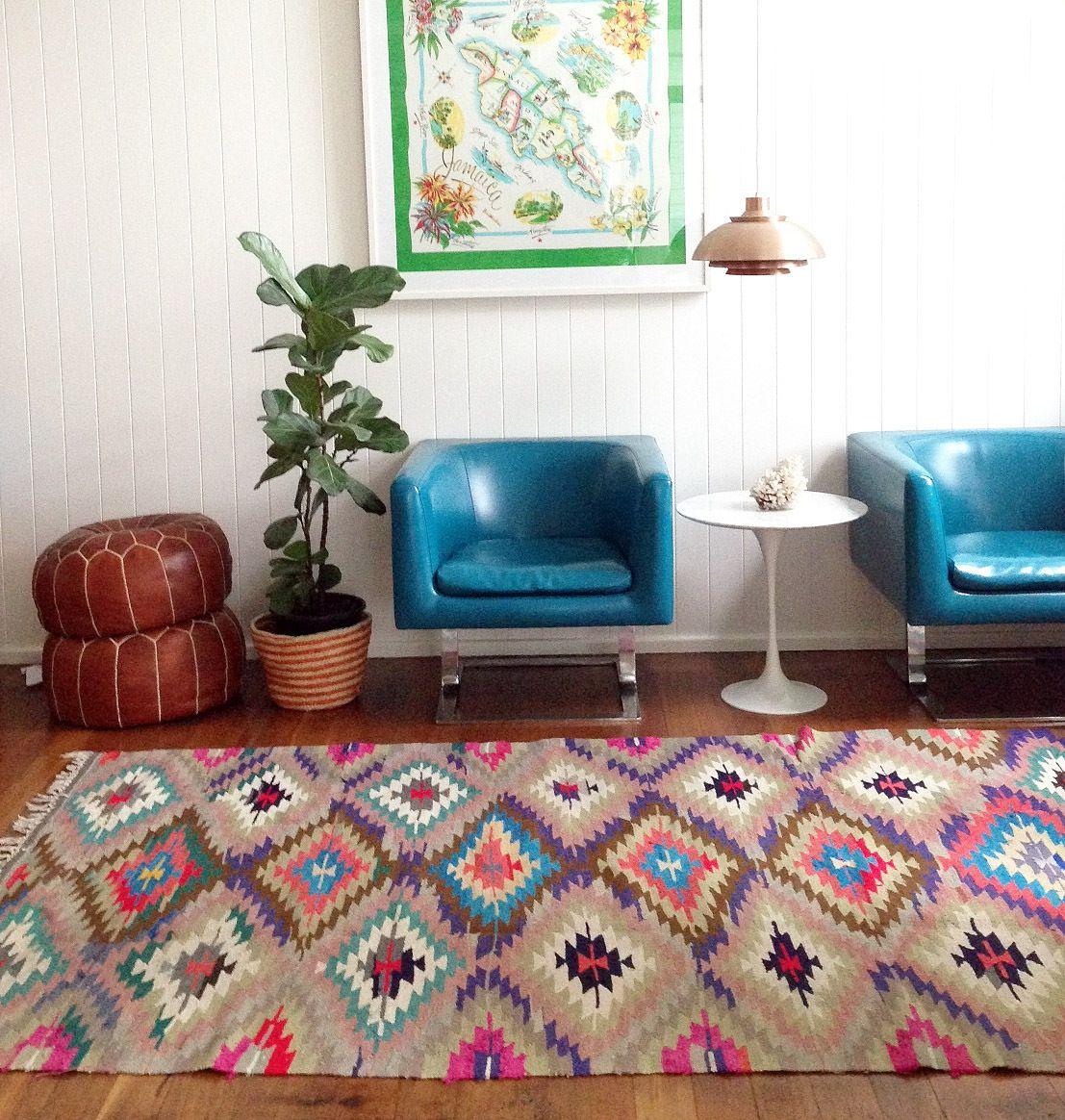 Decoraci n inspiraci n colores kilim alfombras - Alfombras para salones ...
