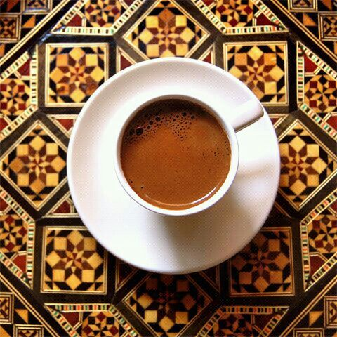 Mosaic Tile. Lovely Cup of Javita. www.ReserveYourCup.com/PaigesCoffeeNW