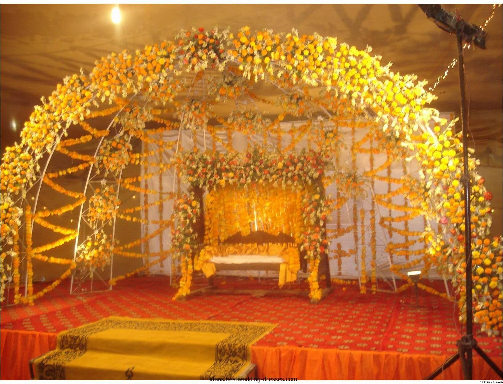 Mehndi Flower Arrangements : Mehndi stage decoration ww ideas bestwedding dresses wedding