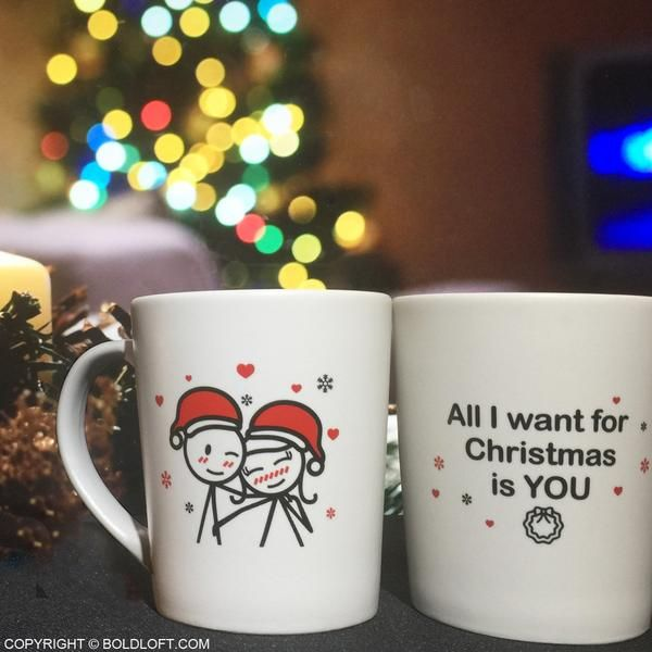 Merry Christmas Couple Mug Set Romantic Gifts For Him Boyfriend Gifts Girlfriend Gifts