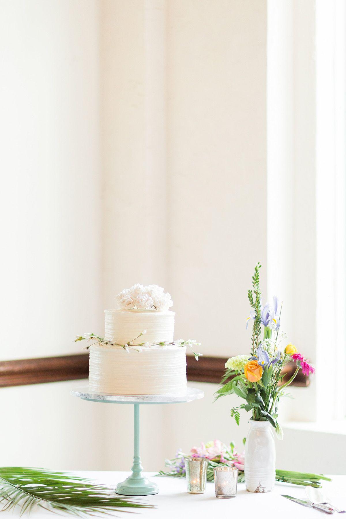 Simple small white wedding cake photo by bricibene wedding