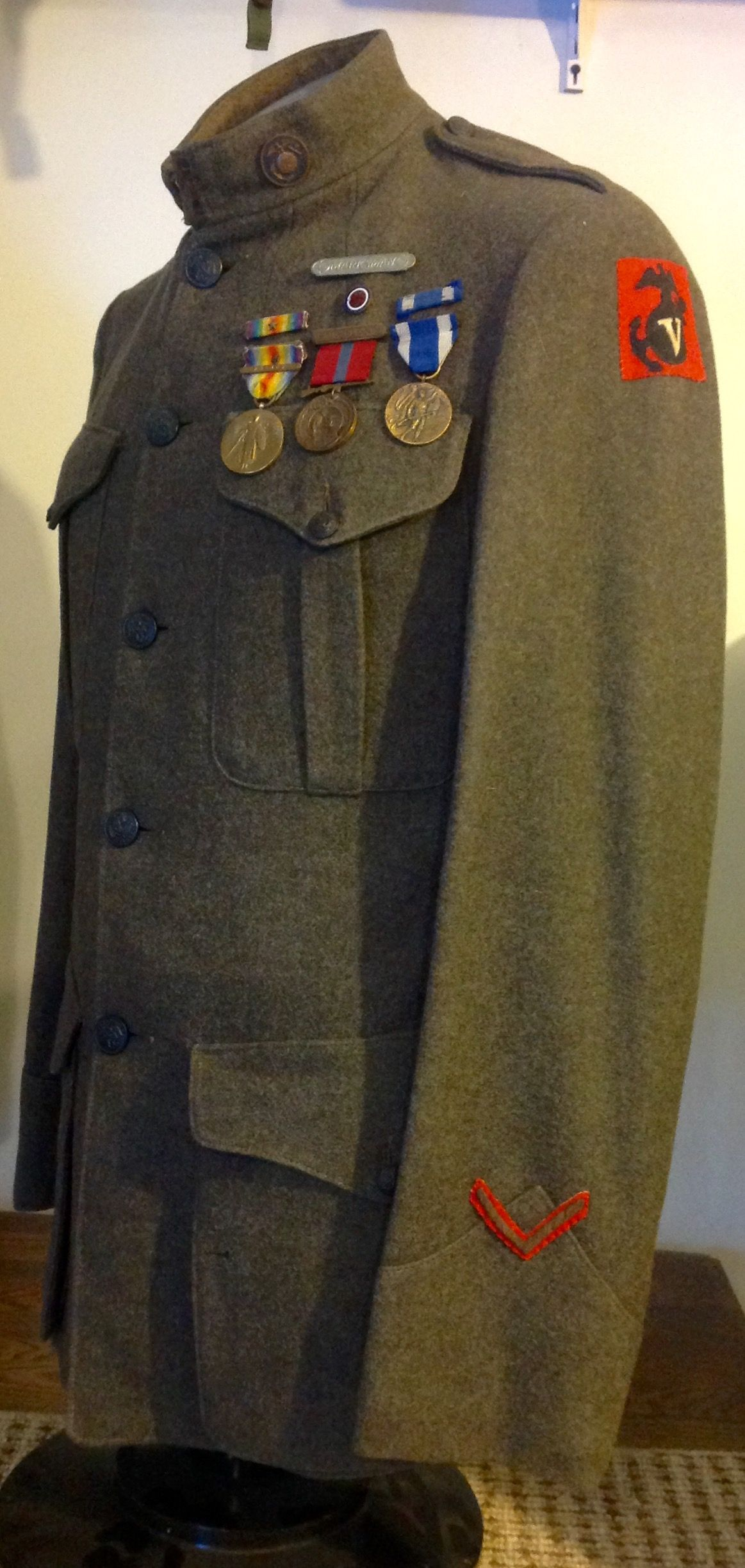 Usmc Enlisted 1917 Winter Service Coat With Enlisted Egas