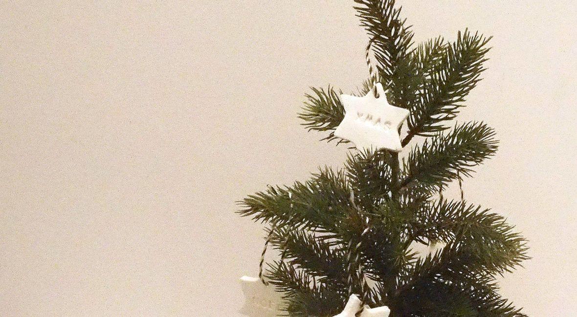 Christbaumdekoration aus Modelliermasse