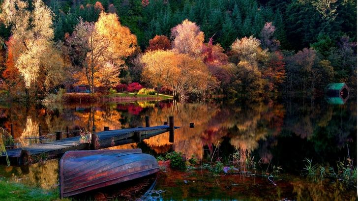 Latest Wallpaper High Resolution Wallpaper Hi Res Wallpaper High Quality Wallpapers High Definition Wallpapers Cool Background Autumn Lake Landscape Scenery