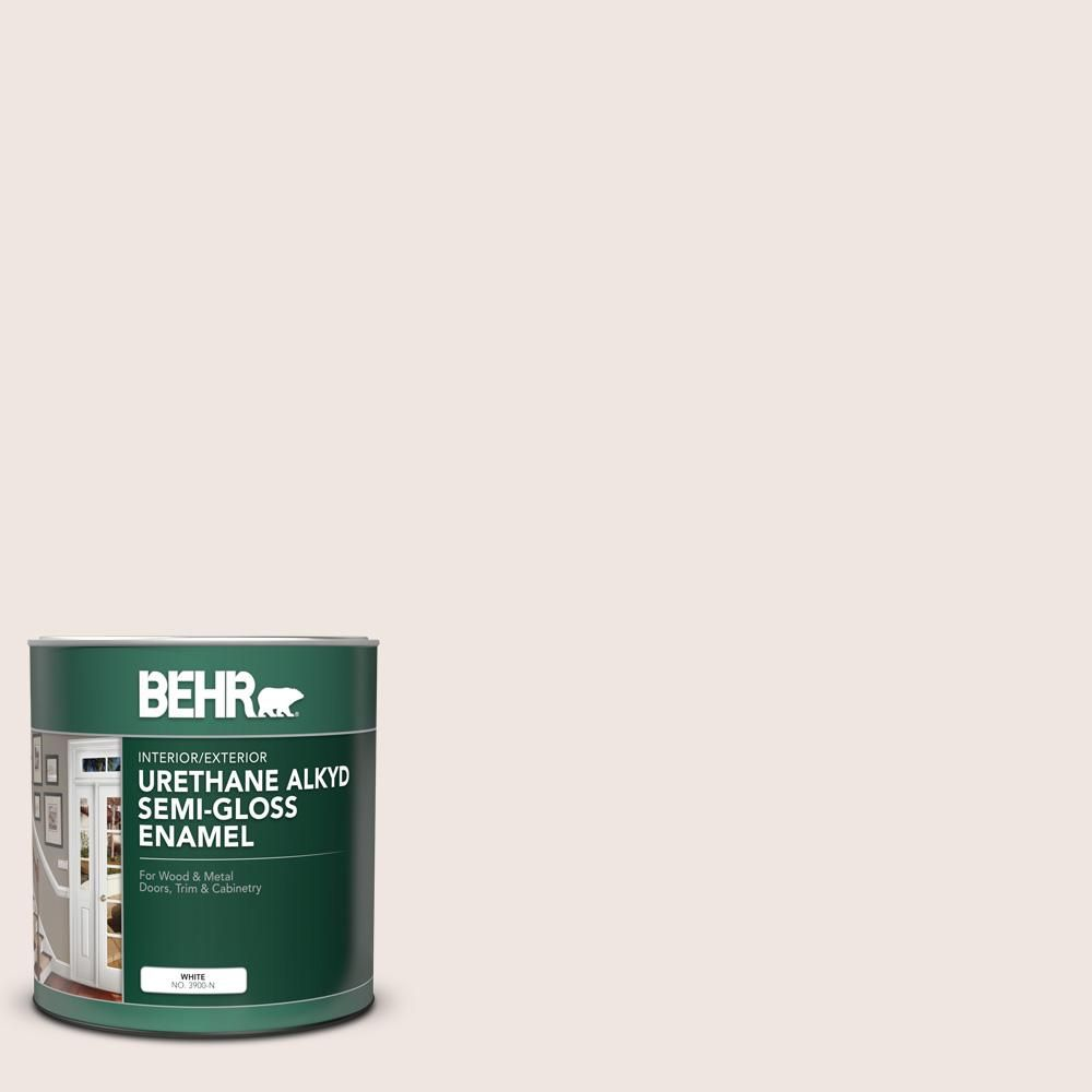 Behr 1 Qt N170 1 Tailors Chalk Color Semi Gloss Enamel Urethane Alkyd Interior Exterior Paint 390004 The Home Depot Exterior Paint Painting Trim Behr