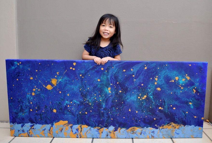 Una pintora de 5 años que te dejará con la boca abierta