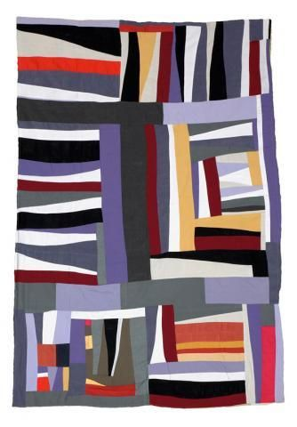 """""""Strips and Strings"""" by Mary Lee Bendolph of Gee's Bend, 2003"""