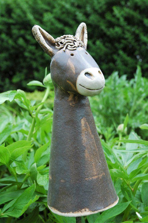 Tierfiguren aus Ton Igel Zaunhocker Schaf Hund Maulwurf Deko