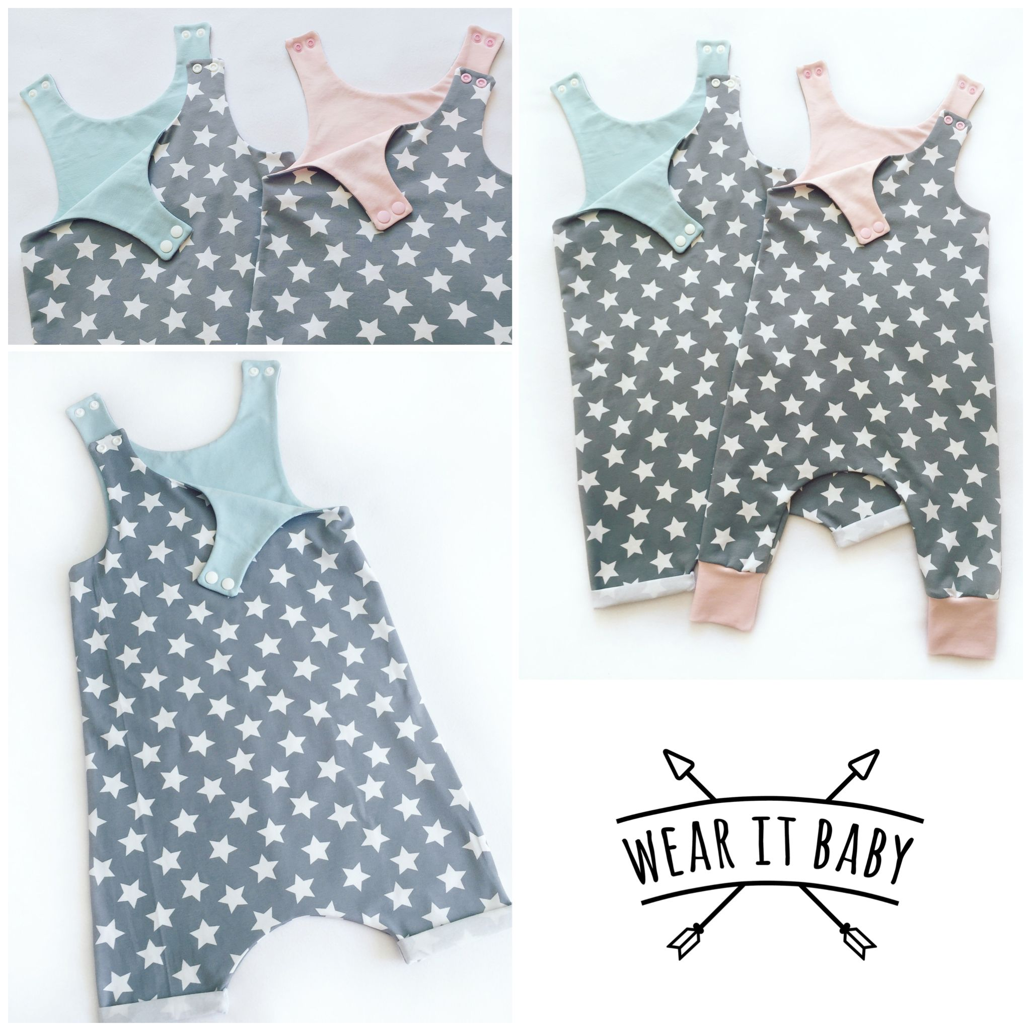 15f0eb59fa20 Unisex Romper By Wear it baby! Perfect for a gender neutral gift www ...