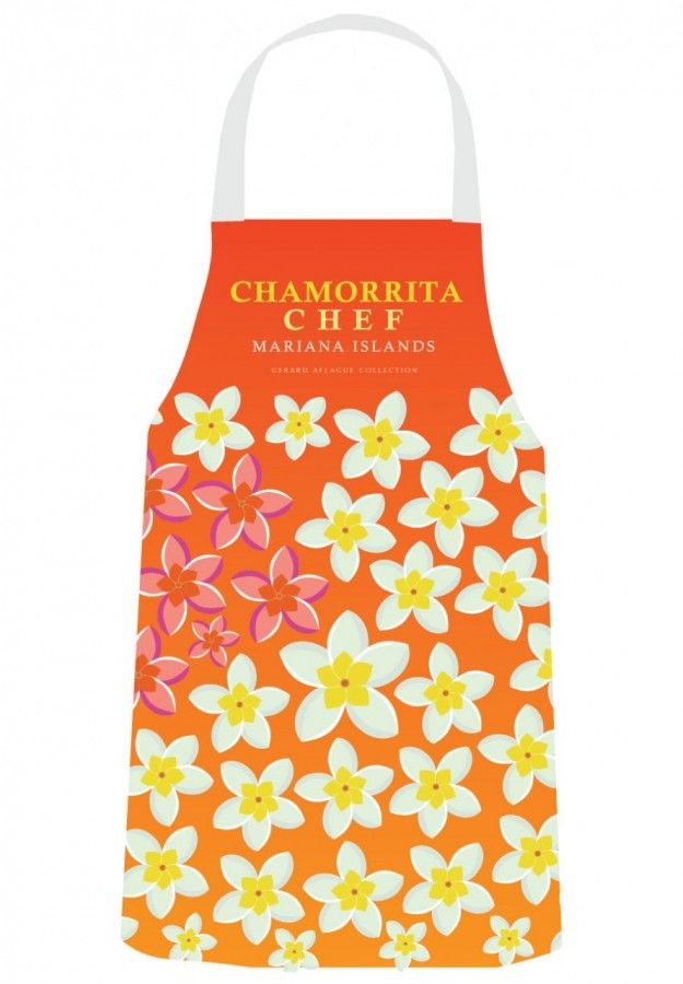 Gerard Aflague Collection Store - Chef's Apron - Chamorrita Design (Red to Yellow) - Chamorro, $26.99 (http://www.gerardaflaguecollection.com/chefs-apron-chamorrita-design-red-to-yellow-chamorro/)