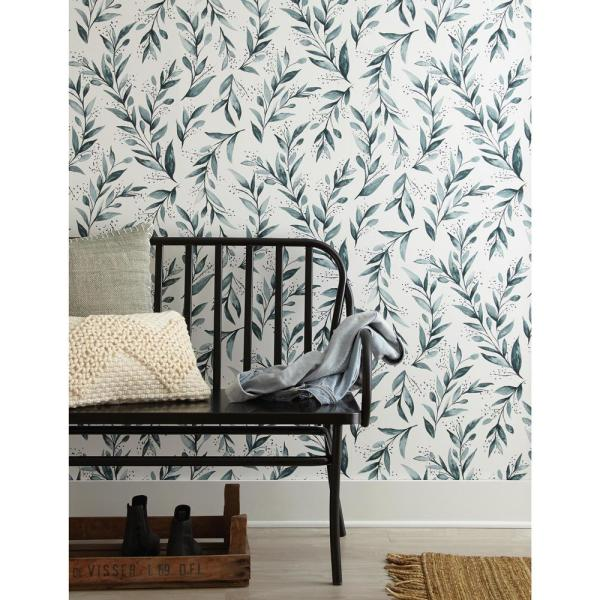 Magnolia Home By Joanna Gaines 34 Sq Ft Magnolia Home Olive Branch Peel And Stick Wallpaper Psw1002rl Home Wallpaper Magnolia Homes Easy Home Upgrades