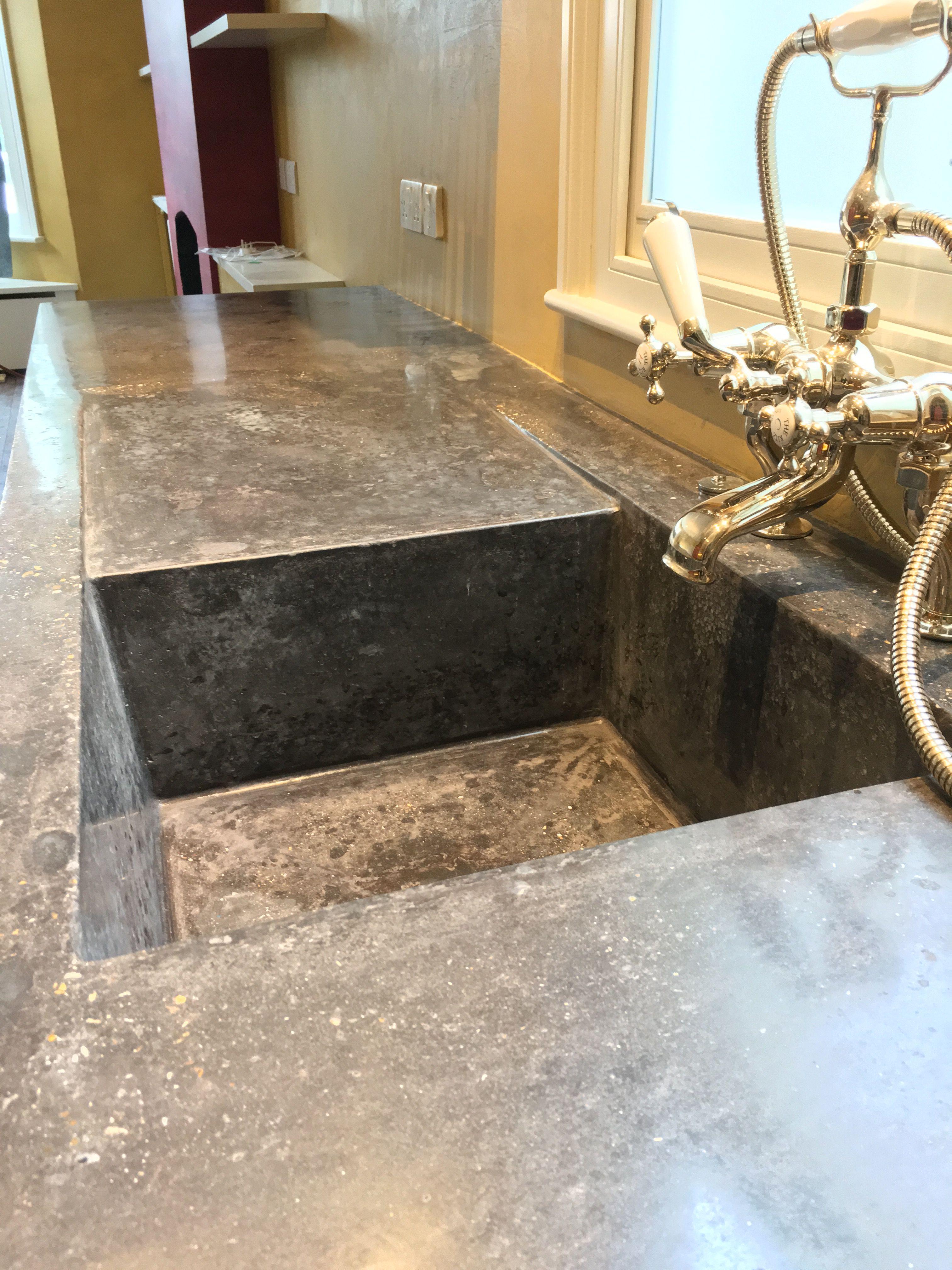 Kensal rise pigmented cast in situ polished concrete