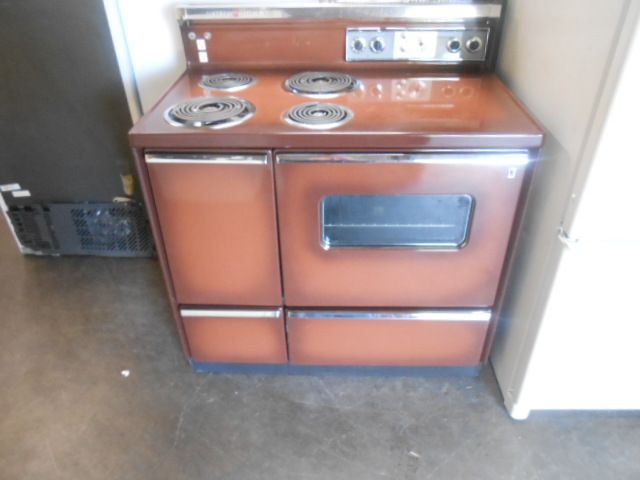 40 Inch Electric Range Part - 37: Appliance City - GE VINTAGE CHOCOLATE BROWN 40 INCH ELECTRIC DOUBLE OVEN  PUSH BUTTON CONTROL WITH LIGHT ON PANEL COIL BURNERS 2 LARGE 2 SMALL 2 U2026