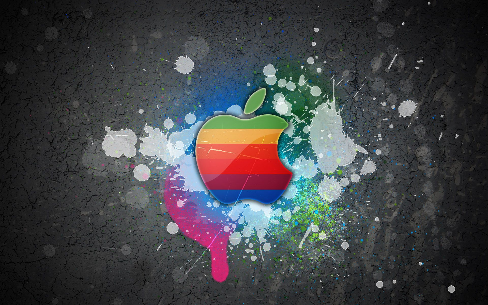 Apple Logo Rainbow Colors The best wallpaper backgrounds