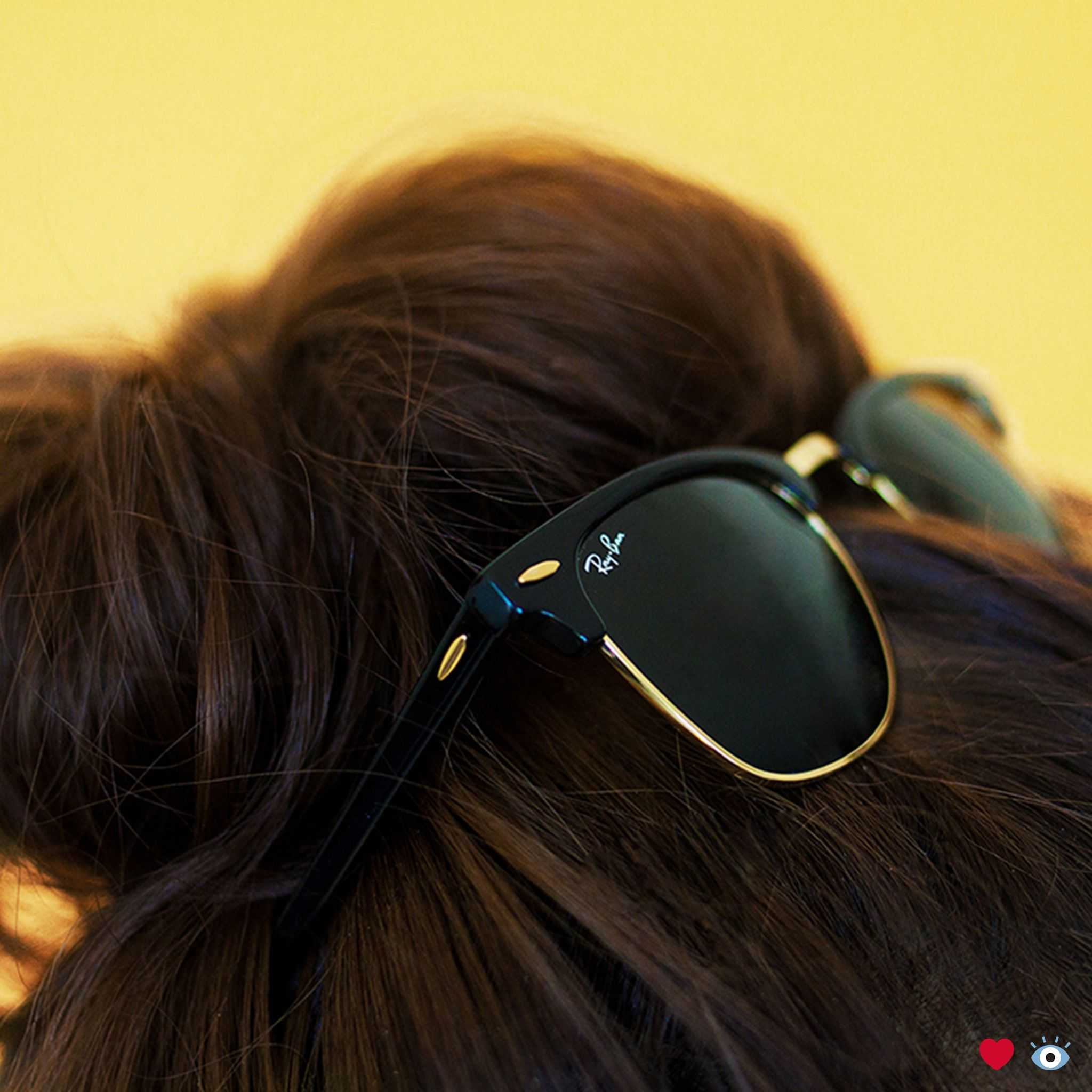35cd2af481 Ray-Ban Clubmaster sunglasses make for a perfect hair day