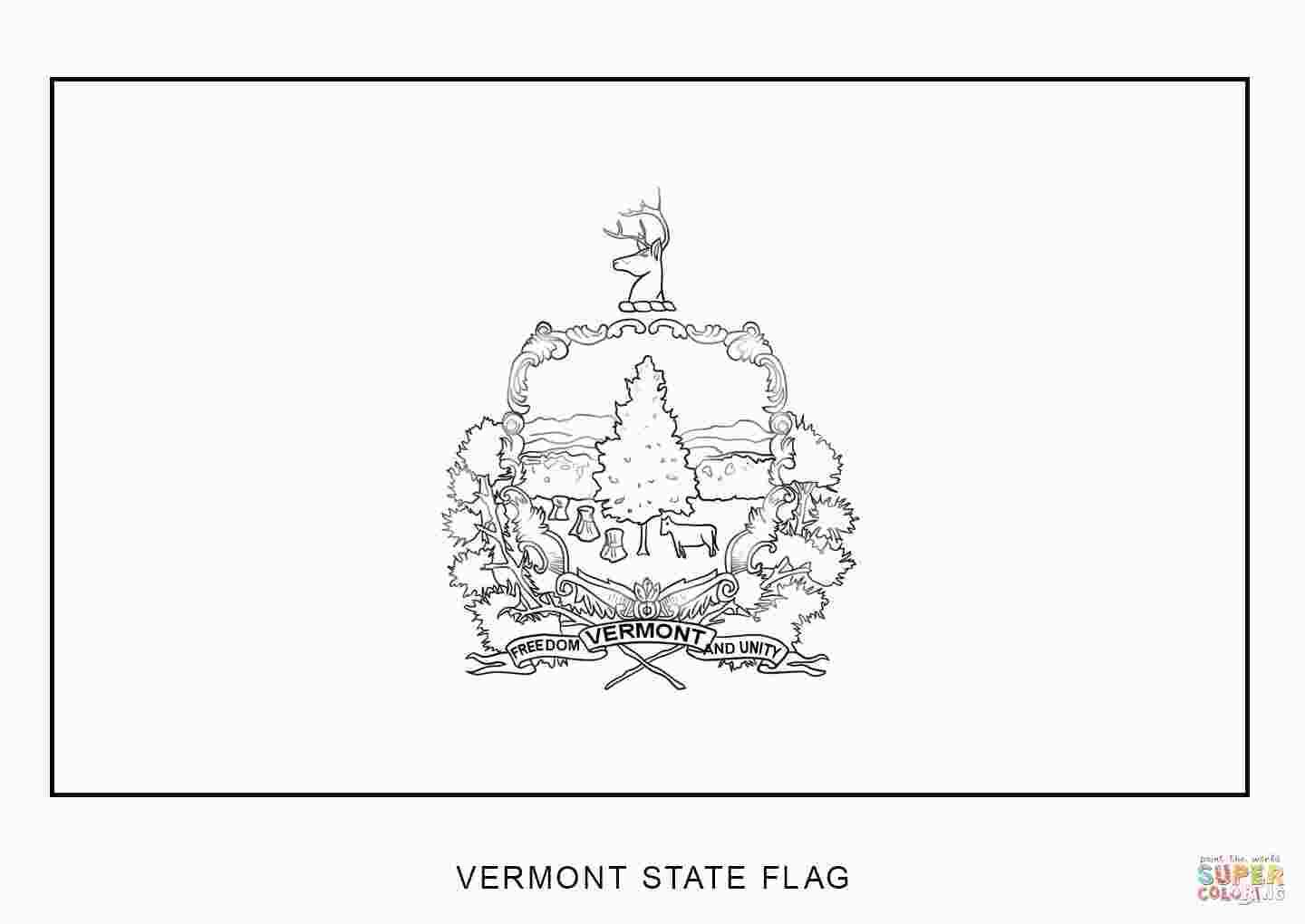 Vermont State Flag Coloring Page Flag Coloring Pages Coloring