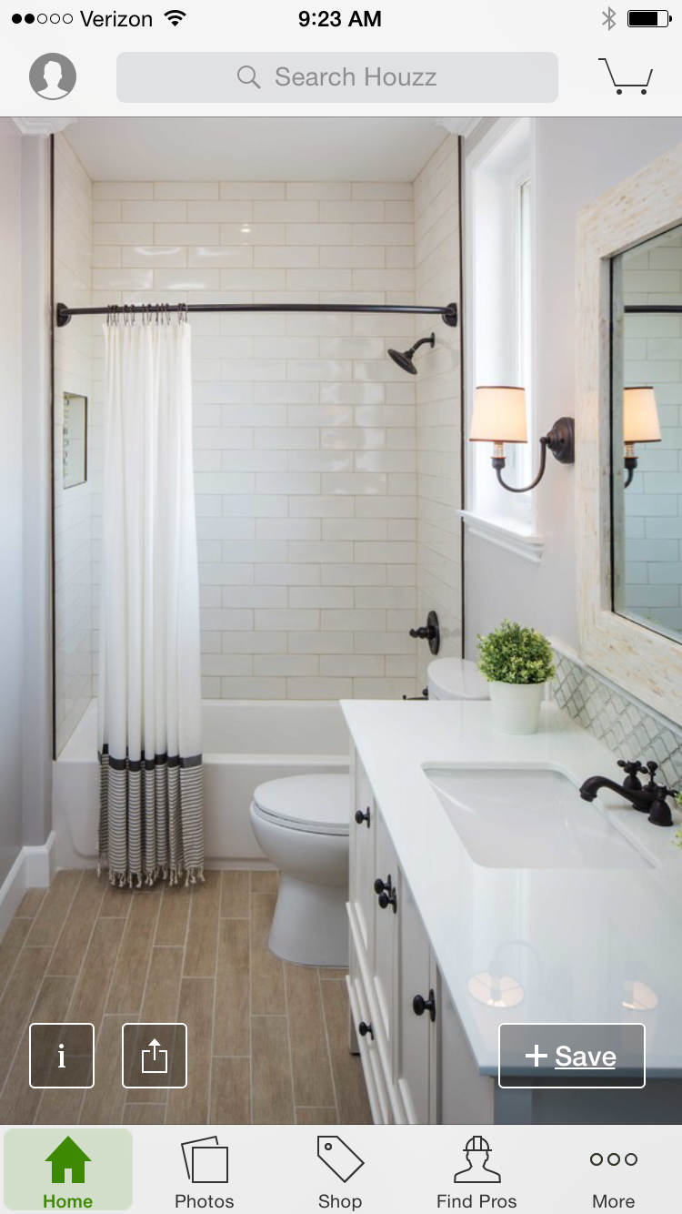 White finishes black accents. Floor is too brown for me. Would love ...
