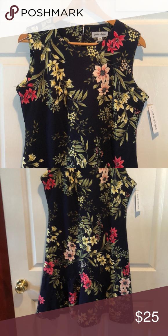 Shelby Palmer Floral Dress Flounce Hem Size 12 Shelby Palmer Dresses Midi Clothes Design Fashion Design Dresses