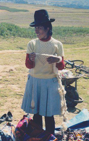 Spinning woman in Cusco Peru