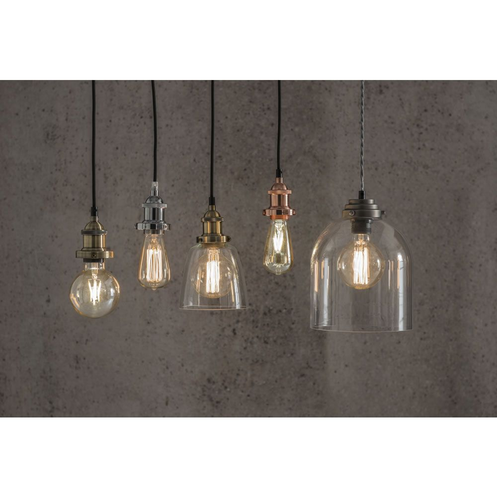 Suspension lighting kit copper effect lights pendant lighting and wilko suspension kit copper aloadofball Image collections