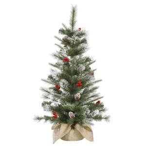 Vickerman 27663 36 X 22 Frosted Pine Berry 50 Clear Lights Christmas Tree J120137 Christmas Tree Clear Lights Tabletop Christmas Tree Christmas Tree