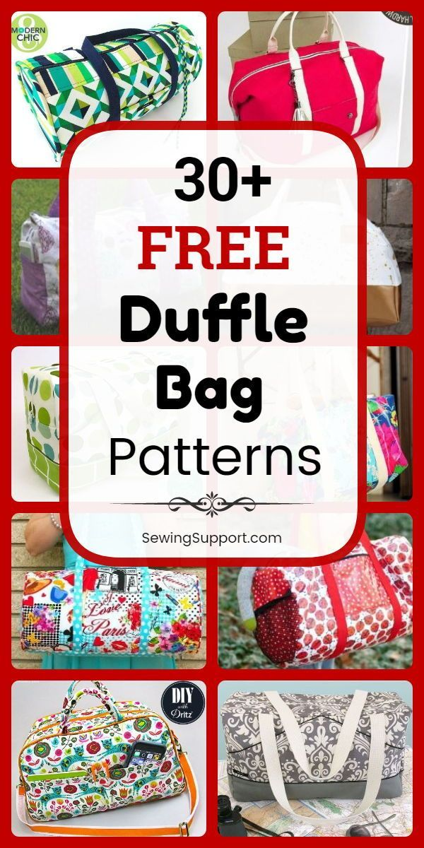 Bag Patterns for Duffle Bags 30 free duffle bag patterns diy projects and tutorials to sew Great bag for weekend travel kids school sports and gym