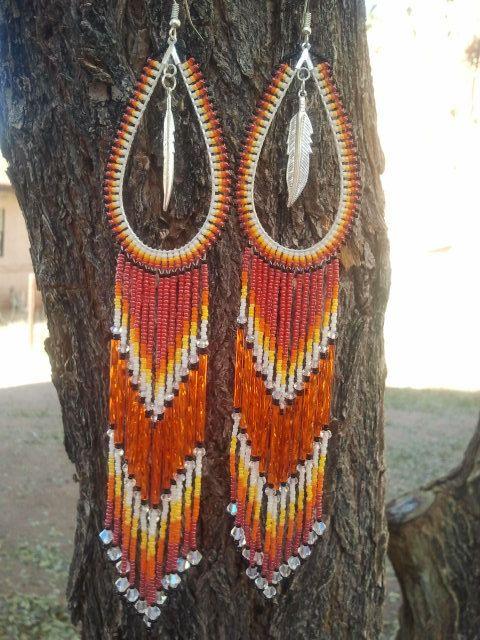 Native American Made Teardrop Crystal Beaded By