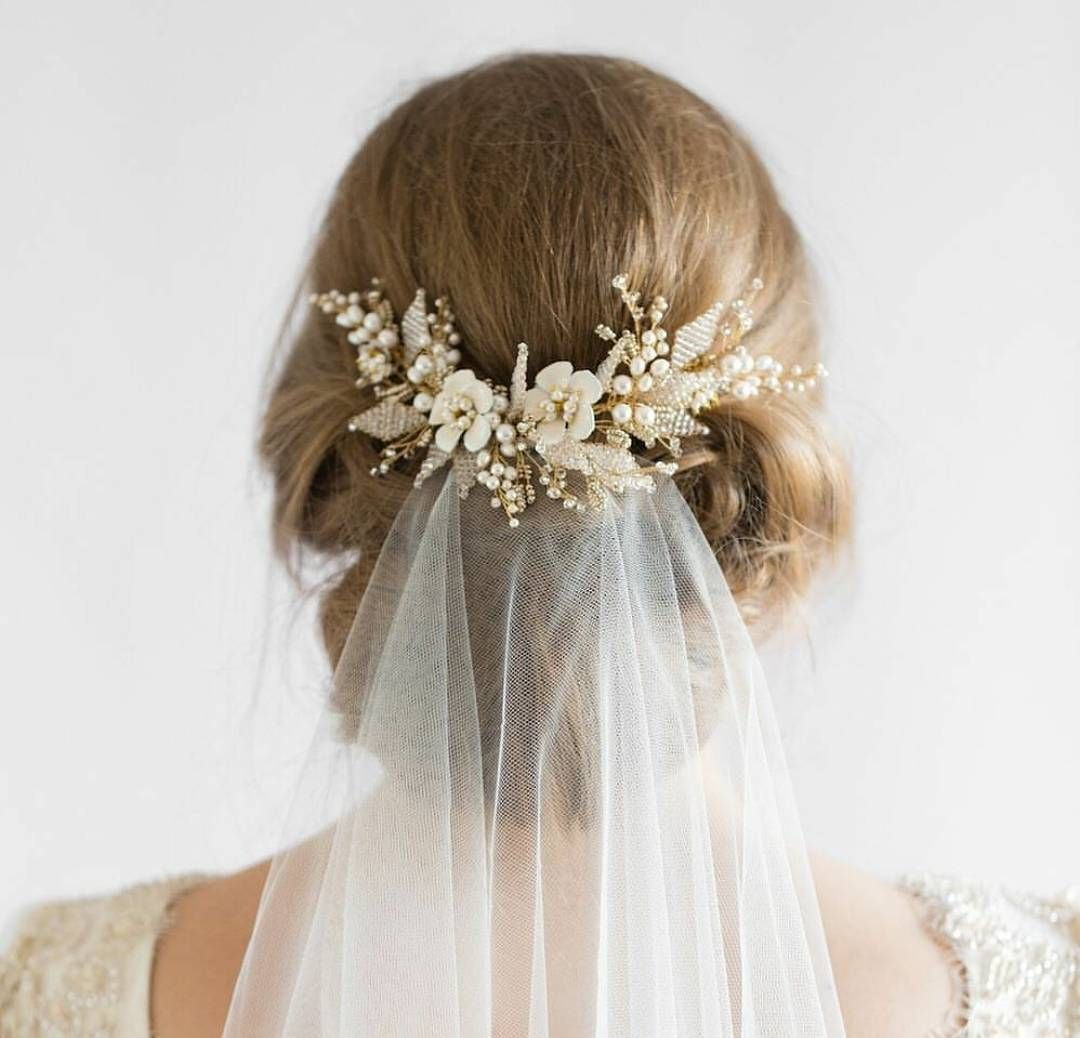 here is one bridal hairpiece inspo from @percyhandmade that