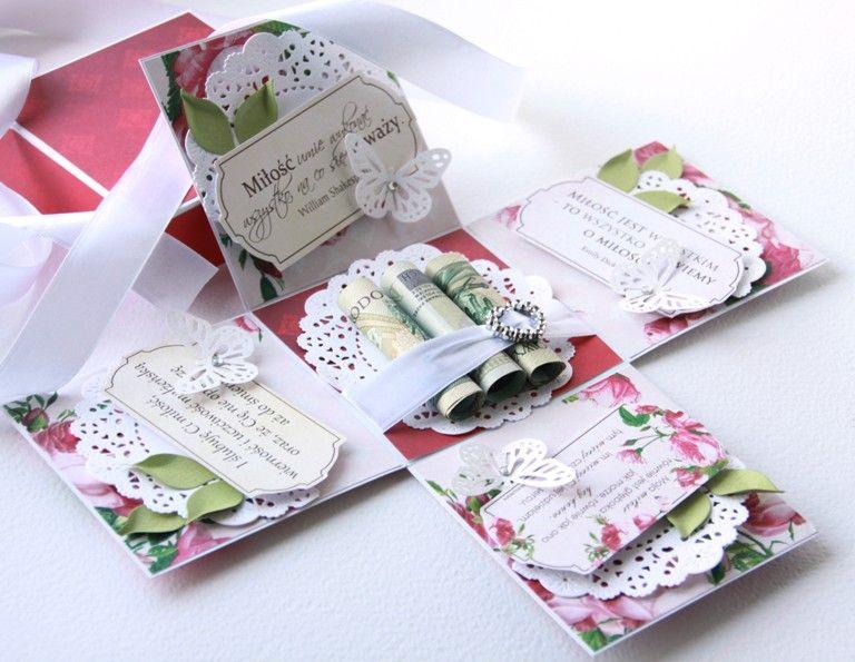 Pudelko W Calosci Wykonane Z Papierow Rae Card Box Wedding Exploding Box Card Exploding Gift Box