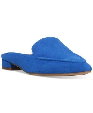1154b7a90fa Franco Sarto Sela Pointed Toe Slip-On Loafer Mules - Blue 10.5M ...