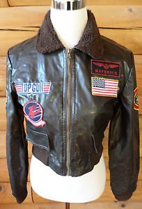 Womens Size L Leg Avenue Top Gun Bomber Jacket Costume Faux Leather