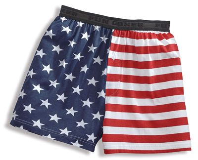 Patriotic Stars and Stripes Boxers