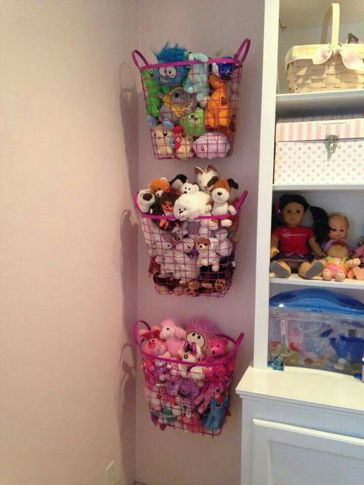 Storage for the ever expanding soft toy population.