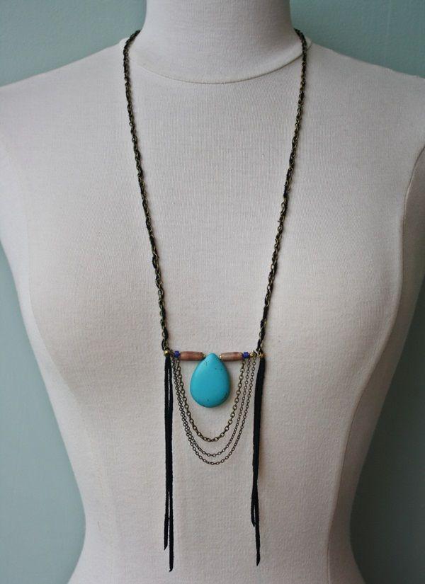 Native Rainbow Turquoise Pendant Necklace #nativerainbow #bohemian