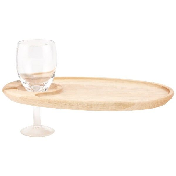 JK Adams Wooden Appetizer Plates With Wine Glass Holder is a great way to simultaneously carry a wine glass \u0026 s&le appetizers.  sc 1 st  Pinterest & plates with glass holders - Google Search   F\u0026B images   Pinterest ...