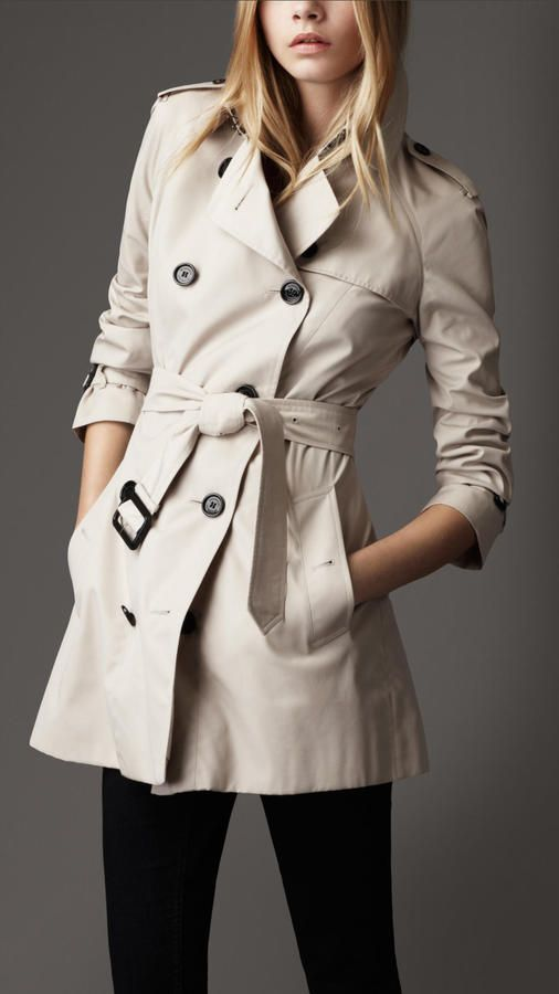 Burberry | Short Technical Cotton Trench Coat
