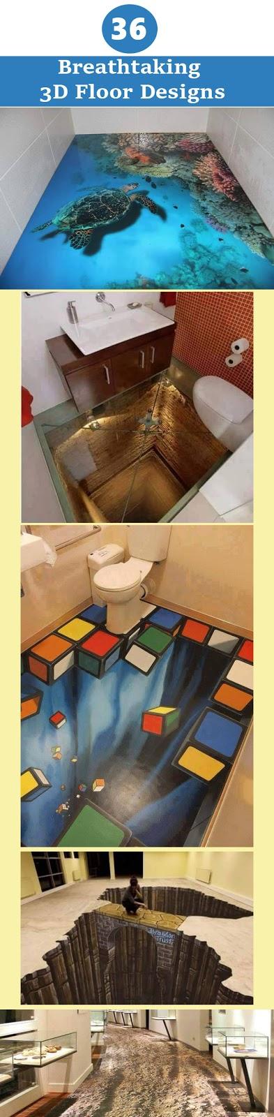 Modern Cost Effective and  Amazing 3D Floor Designs