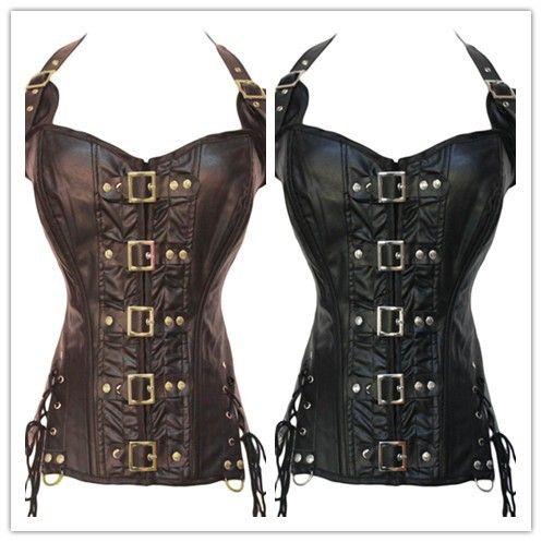 Cheap Caffè/nero fibbia up corsetto steampunk LC5342 new fashion nuovo 2014 corsetto delle donne panno donne, Compro Qualità Bustini e corsetti direttamente da fornitori della Cina:                                                                                   Coffee /