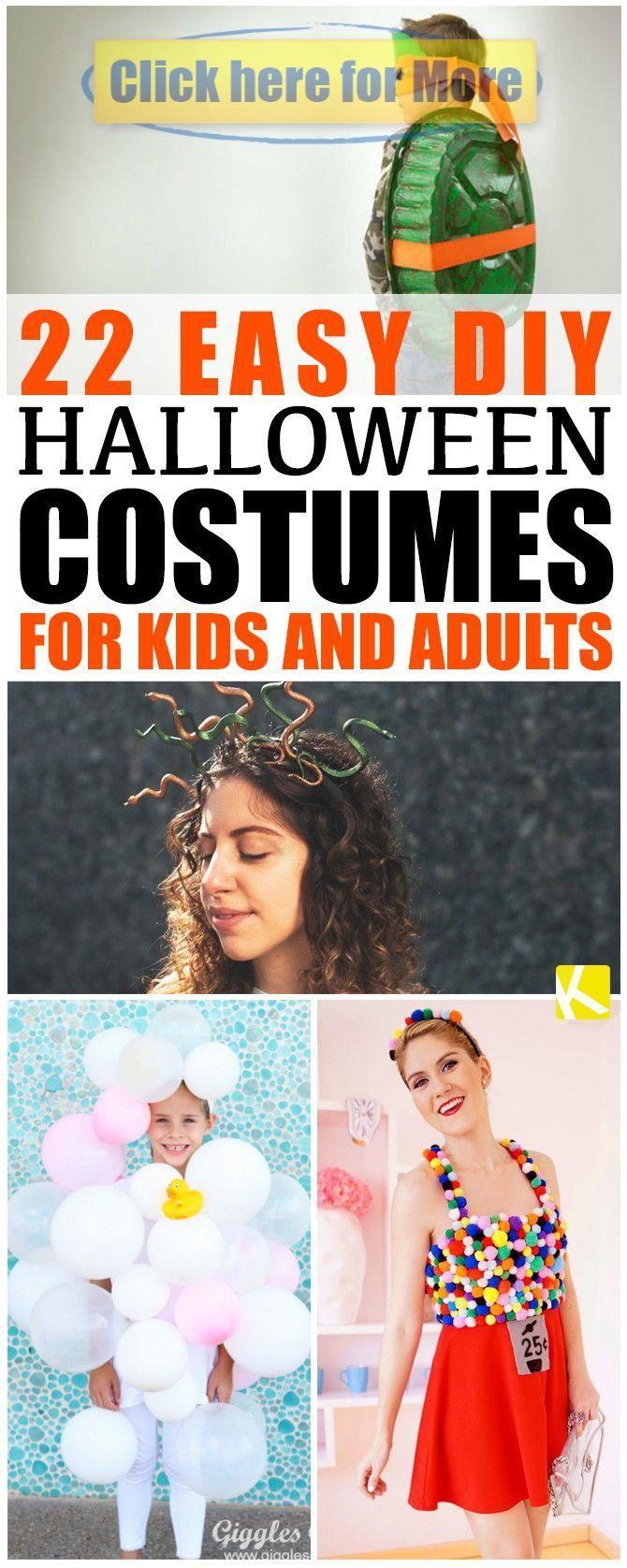22 Easy DIY Halloween Costumes for Kids and Adults   - Halloween #déguisementsdhalloweenfaitsmain