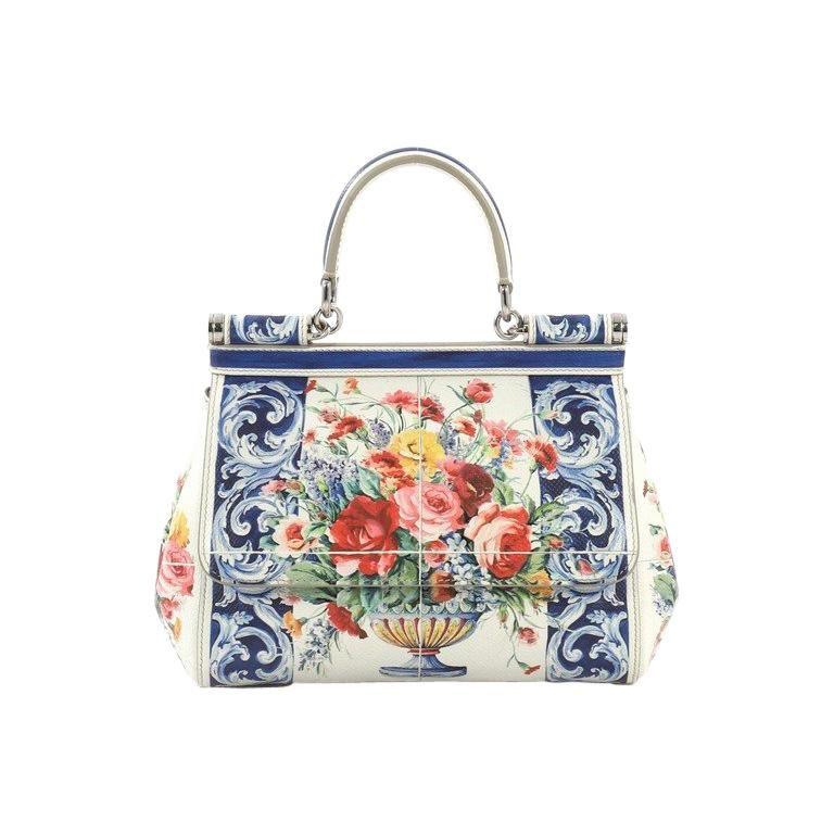 3a5182d84d Dolce & Gabbana Miss Sicily Handbag Printed Leather Small Mini Handbags,  Gucci Handbags, Tote