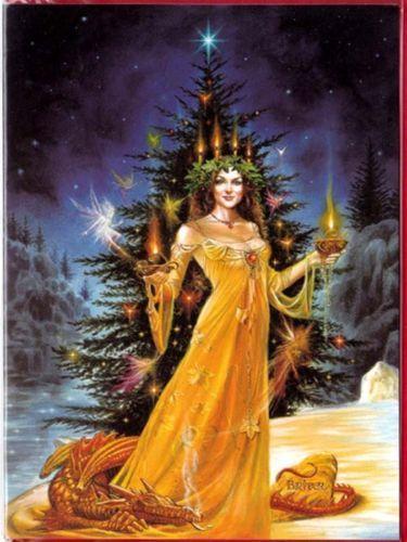 Lady of the lights pagan yule christmas greeting card xmas wicca lady of the lights pagan yule christmas greeting card xmas wicca briar m4hsunfo