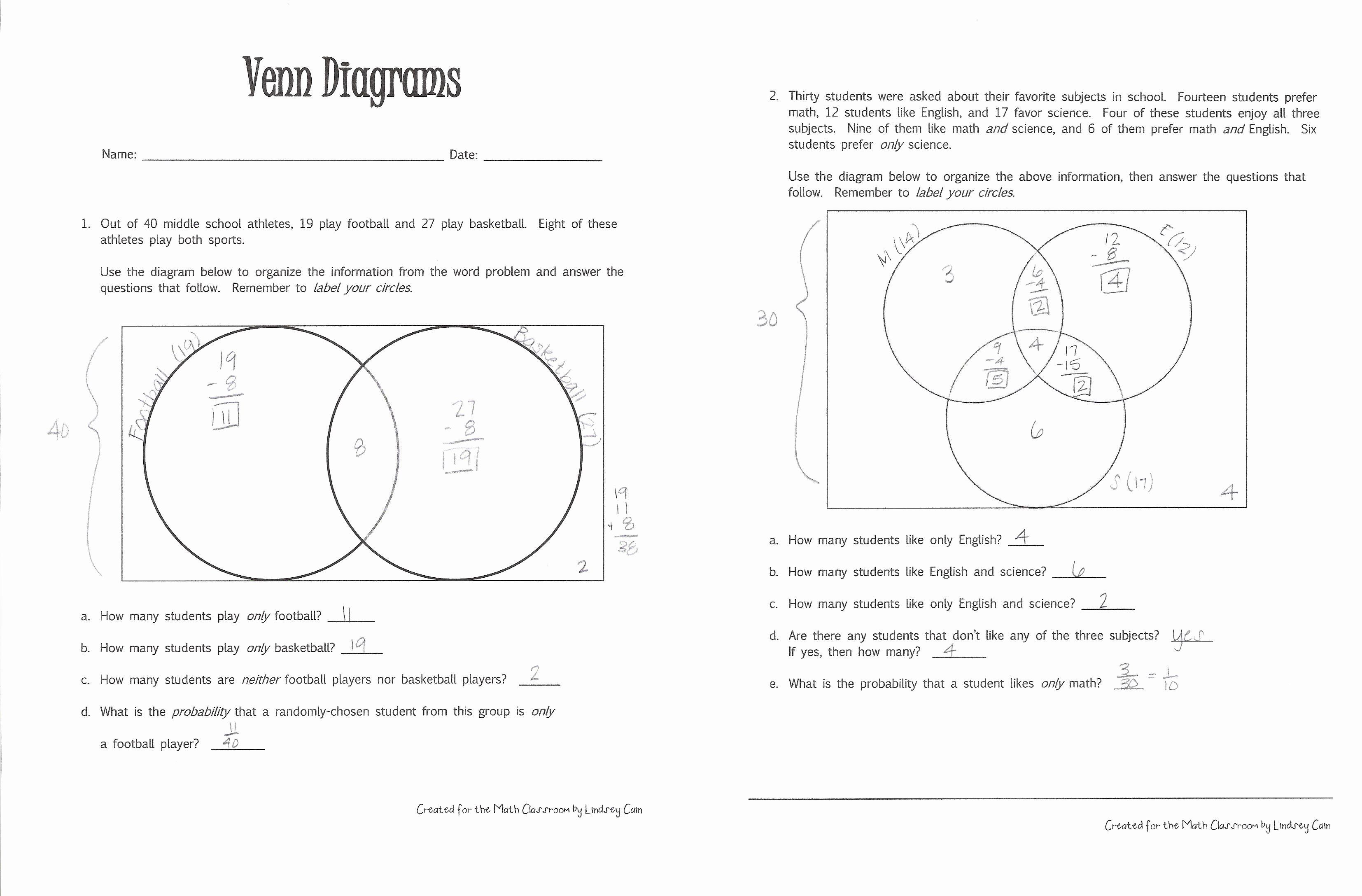 30 Venn Diagram Worksheets In