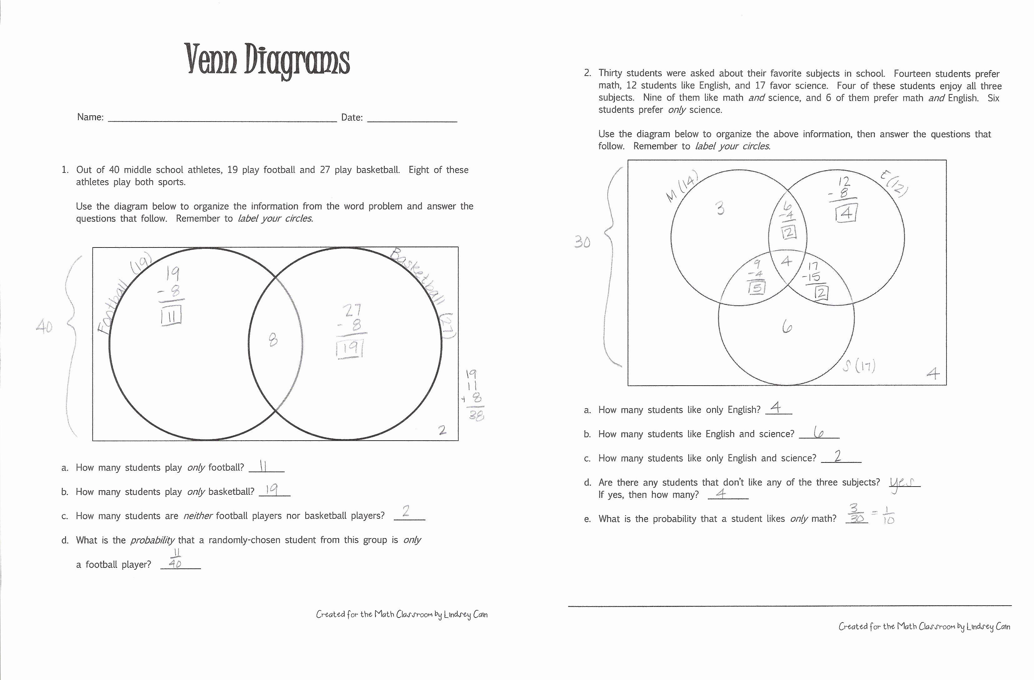 30 Venn Diagram Worksheets In