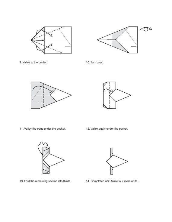 money star diagram  2 of 3  dollar bill origami