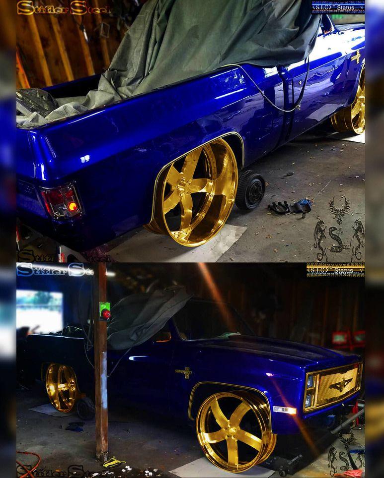 "Golden Chevrolet : golden, chevrolet, STIFLER, STEEL, Instagram:, ""Golden, Finish, (Illustration), GOLDEN, CONCEPTS, #StiflerSteel, #AtlantaWhip…, Chevy, Trucks,, Cars,, Custom, Trucks"