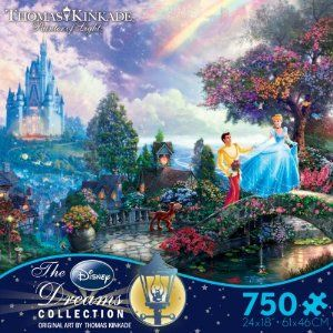 Collecting Thomas Kinkade's Disney puzzles - Cinderella